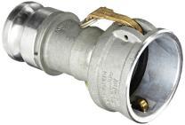 "Dixon 3025-DA-AL Aluminum Cam and Groove Reducing Hose Fitting, 3"" Socket x 2-1/2"" Plug"