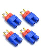 Readytosky T-Plug Deans Male to EC3 Female Connector Adapters No Wire RC LiPo Battery Connectors(4PCS)