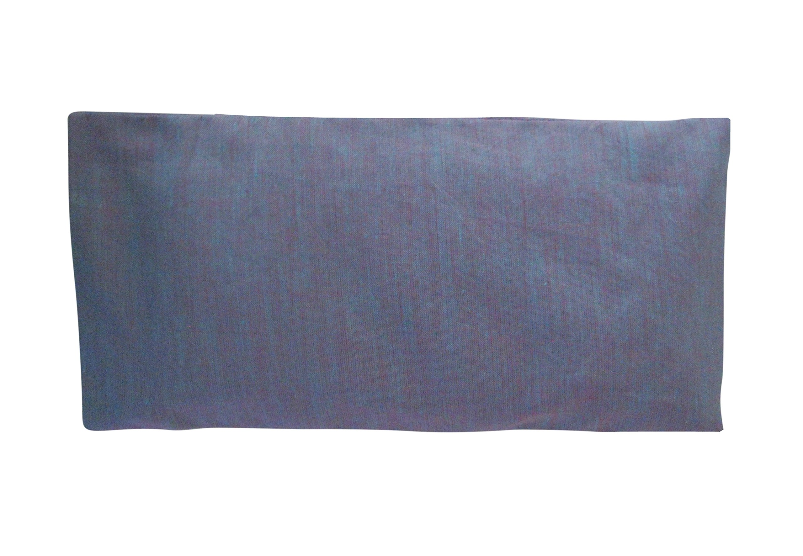 Peacegoods Scented Cotton Eye Pillow - 4.5 x 9 - Lavender Chamomile Flax - Removable Washable Cover - headache relief soothing spa yoga sleep - purple amethyst