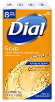 Dial Antibacterial Bar Soap, Gold, 4 Ounce (Pack of 8) Bars