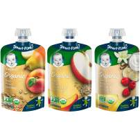 Gerber Purees Organic Toddler Pouch Assorted Variety Pack, 18 Count