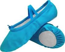 L-RUN Girls'/Women's Canvas Ballet Dance Shoes/Ballet Slipper/Yoga Shoe
