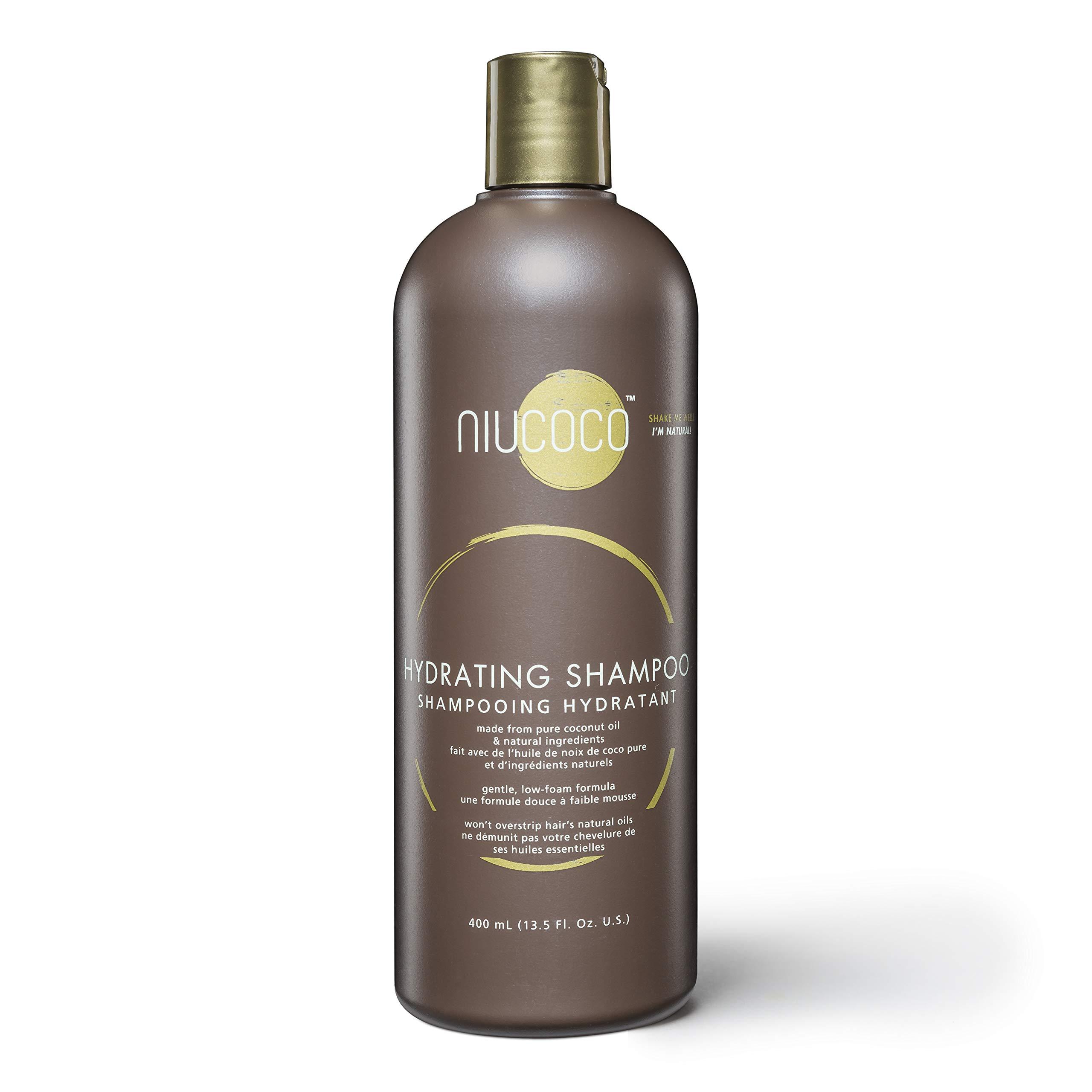 NIUCOCO | All-Natural Hydrating Coconut Oil Shampoo | 100% Non-Toxic | Alleviates Dandruff (400ml)