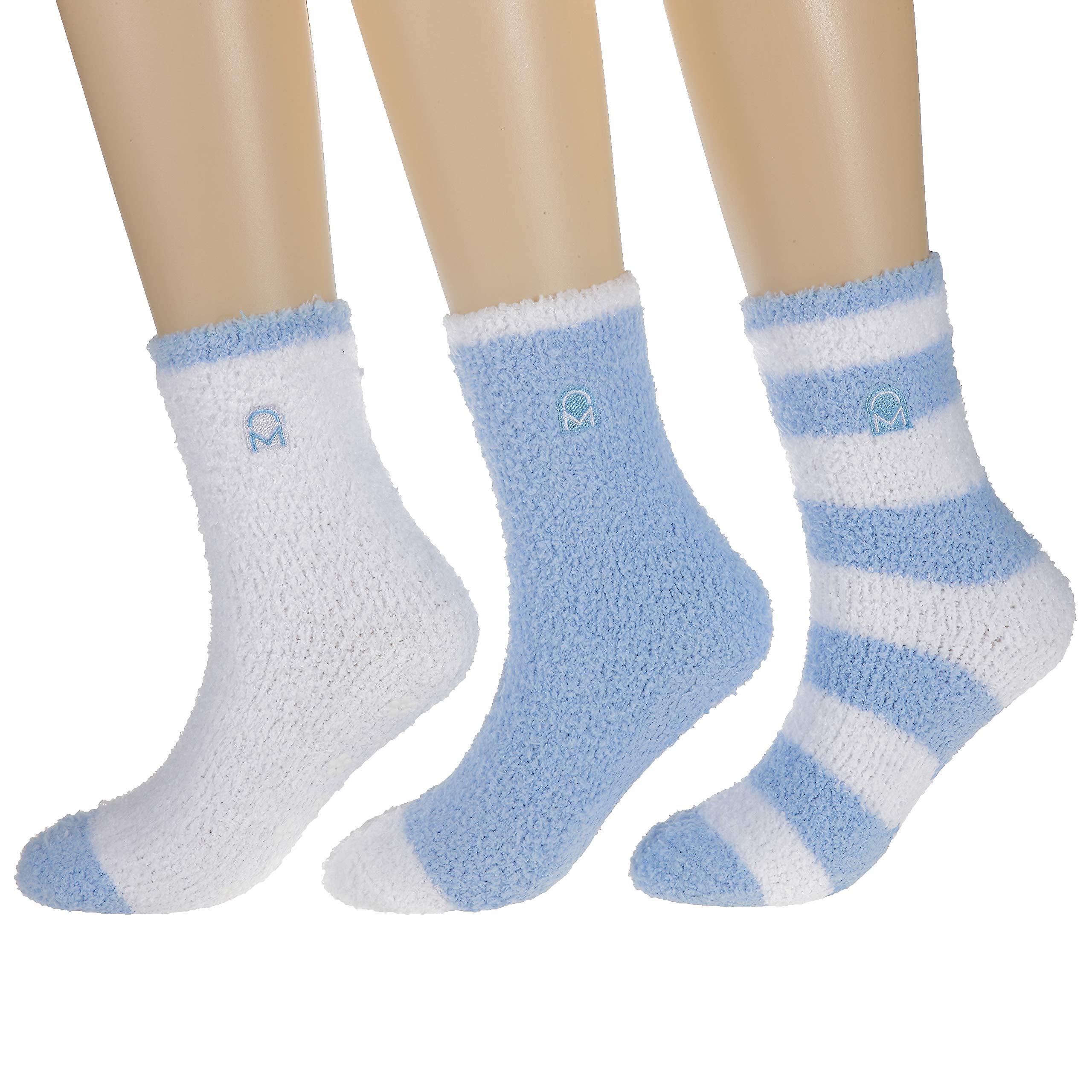 Noble Mount Women's (3 Pairs) Soft Anti-Skid Fuzzy Winter Crew Socks