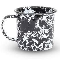 Enamelware Mug, 24 ounce, Black/White Splatter (Set of 4)
