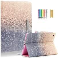 iPad Mini Case, iPad Mini 2/3/4 Case, Premium Leather Case, Multi-Angle Viewing Folio Stand Case for Apple iPad Mini with Auto Wake/Sleep, Beach Sand