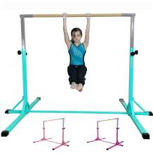 FC FUNCHEER Expandable Gymnastics kip bar with Fiberglass Cross bar,Adjustable arms with ex-Long Base Length,Safe Training for Children