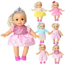 rainbow yuango Pack of 6 Bitty Baby Alive Doll Clothes Colorful Handmade Dresses Skirts Outfits Realistic Daily Costumes Gown Set Fits 12'' 13'' 14'' 15'' Baby Alive Doll