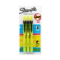 Sharpie Accent Pen-Style Retractable Highlighter, Fluorescent Yellow (28124PP), 3 pack
