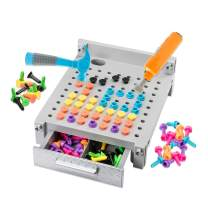 Educational Insights Design & Drill My First Workbench (Gray) Supports STEM Learning, Ages 3 and Up, (125+ Pieces)