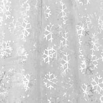 Deconovo Tablecloth Organza Glittering DIY Fabric Sheer Tree Skirt Kids Birthday Wedding Party Decorations, 59W x 118L Inch, Snowflake