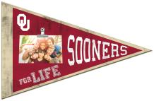 """KH Sports Fan 18.5""""x12"""" Oklahoma Sooners Pennant Clip-It Photo Frame, Red"""