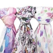 Muslin Swaddle Blankets, 3 Pack Large 47x47in Baby Blanket, Flutter