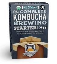 The Complete Jun Kombucha Brewing Kit - Everything You Need to Make Organic Jun Tea at Home - Makes 1 Gallon - Includes Live Organic Jun SCOBY, Organic Green Tea & Honey, 1-Gallon Glass Brewing Jar
