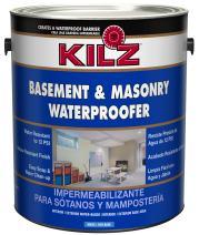 KILZ Interior/Exterior Basement and Masonry Waterproofing Paint, White, 1-gallon