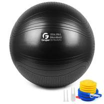 Gruper Yoga Stability Ball,45-75cm Extra Thick Exercise Ball for Workout Fitness Balance - Anti Burst Yoga Chair for Home and Office -Includes Hand Pump & Workout Guide Access