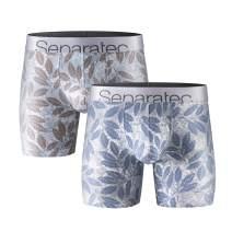 Separatec Men's 2 Pack Premium Cotton-Modal Underwear Low Rise Boxer Briefs