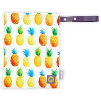 """Itzy Ritzy Sealed Wet Bag with Adjustable Handle – Washable and Reusable Wet Bag with Water Resistant Lining Ideal for Swimwear, Diapers, Gym Clothes & Toiletries; Measures 11"""" x 14"""", Pineapple"""