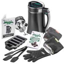 """STX Infuzium 420 Infused Butter-Oil-Tincture Maker Machine Complete Kit """"2 Sticks/1 Cup up to 8 Sticks/4 Cups Butter"""" - 2 Filters, 3 Silicone Spatulas, Silicone Glove & Butter Mold Plus our Infuzium 48 Page Cookbook with Over 80 Magical Recipes/Tips"""