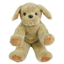 WEWILL Puppy Stuffed Animal Golden Retriever Dog Soft Plush Toy Christmas Birthday Gifts for Toddler Kids, 12-Inch