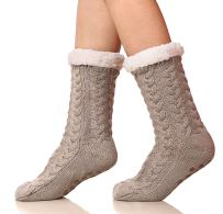 SDBING Women's Winter Super Soft Warm Cozy Fuzzy Fleece-lined Christmas Gift With Grippers Slipper Socks