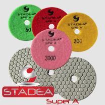 concrete dry diamond polishing pads for concrete polishing - 4 inch 5 Pcs Set by STADEA