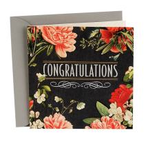 Hallmark Signature Wedding Card (May Happiness Go With You Always)