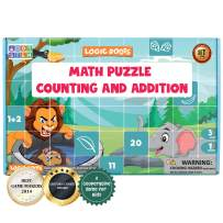 LogicRoots Math Puzzles for Kids, Learning Numbers for Toddlers, Counting Toys for 2 Year Olds, 6 Puzzles (Great Gift for Girls and Boys - Best for 2, 3, 4, and 5 Year Olds)