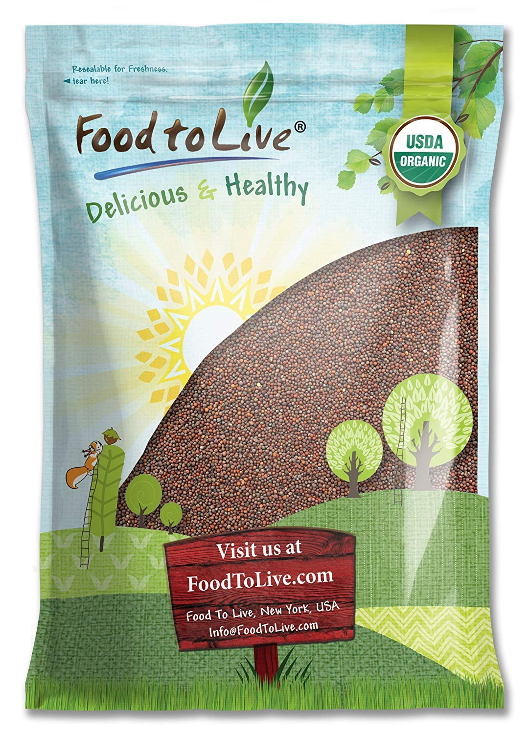Organic Broccoli Seeds for Sprouting by Food to Live (Non GMO, Kosher, Bulk) — 5 Pounds