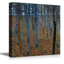 """wall26 - Beech Grove by Gustav Klimt - Canvas Print Wall Art Famous Oil Painting Reproduction - 12"""" x 12"""""""