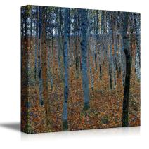 "wall26 - Beech Grove by Gustav Klimt - Canvas Print Wall Art Famous Oil Painting Reproduction - 12"" x 12"""