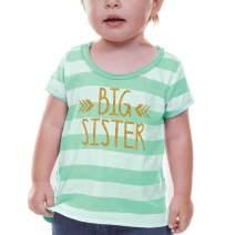 Bump and Beyond Designs Big Sister Shirt Baby Girl Outfit Big Sister Gift