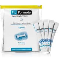 FitFormula Calcium + Vitamin D3 Supplement – Unflavored Dietary Supplement – Premium Formulation of Vitamin D3 and Calcium Powder – High Absorption Formula – 30 Servings – 82.5g (2.9 oz)