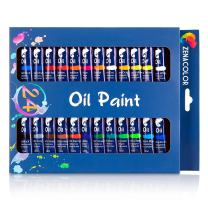 Zenacolor Oil Paint Set with 24 Tubes Pack of 24 x 0.4 Oz (12ml) Different Oil Paint Kit Non Toxic Paint with Dense, Rich Pigments – Art Supplies for Canvas, Clay, Wall Art