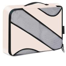 BAGAIL Medium Packing Cube - Various Sizes and Colors Options One Piece Packing Organizer Match Brand's Suitcases(Beige Medium)