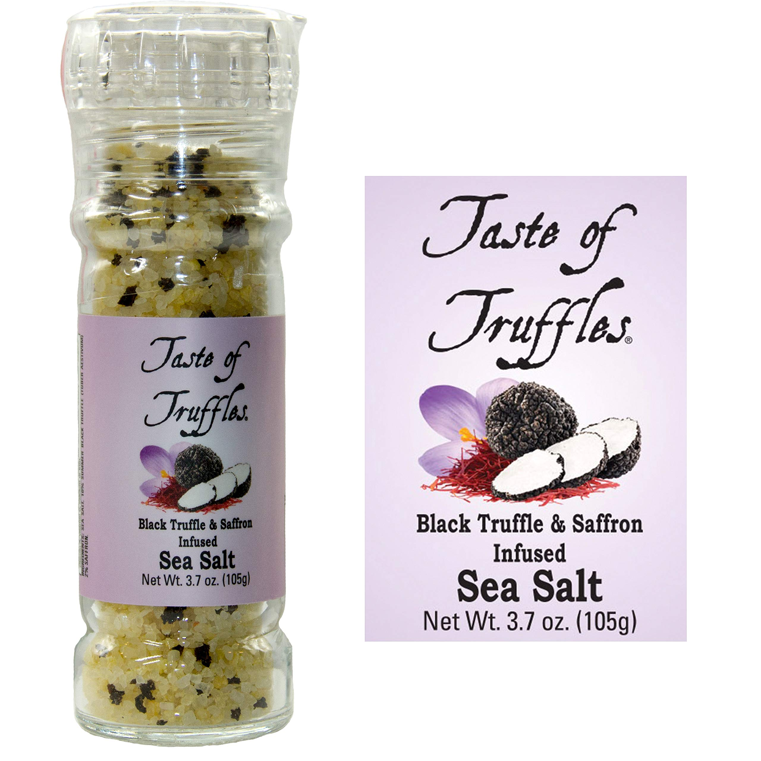 Black Truffle and Saffron Sea Salt | wt 3.7 oz | 105 gr