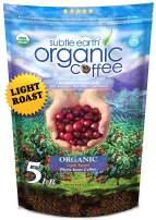 5LB Cafe Don Pablo Subtle Earth Organic Gourmet Coffee - Light Roast - Whole Bean Coffee - USDA Organic Certified Arabica Coffee by CCOF - (5 lb) Bag