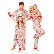 Family Matching Christmas Pajamas Outfits,Mommy and Me Santa's Deer,Bear Sleepwear Halloween Festival Style Loungewear