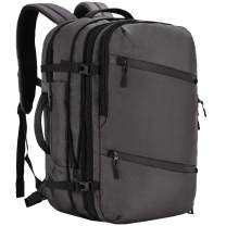 MIER 40L Carry on Travel Backpack Expandable Flight Approved Business Bag, Grey