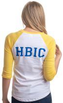HBIC   Head Bitch in Charge Cosplay Teen Vixen Women Yellow Baseball T-Shirt