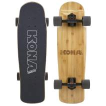 KONA SURF CO. Bamboo Series Cruiser Complete Skateboard for Kids and Adults