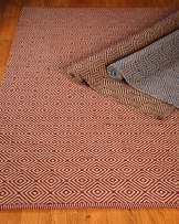 Natural Area Rugs, Natural Fiber Handmade Reversible Retro Jute Rug (9' x 12') Brown/Ivory