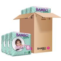 Bambo Nature Eco Friendly Baby Diapers Classic for Sensitive Skin, Size 6 (35-66 lbs), 132 Count (6 Packs of 22)