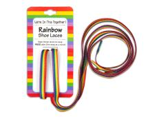Rainbow Striped Shoe Laces - Gay Pride LGBTQ Laces for Parades - Brightly Colored Rainbow Laces for Shoes & Sneakers