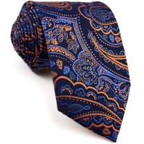 S&W SHLAX&WING Men's Ties Neckties Navy Dark Blue Paisley