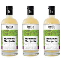 Hella Cocktail Co. | Habanero Margarita Premium Mixers, All Natural Ingredients, Made with Real Lime Juice & Habanero Pepper -Just the Right Amount of Satisfying Spice |750ml, 3-Pack