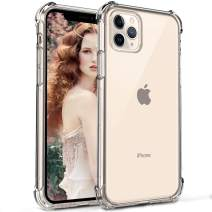 "RioGree for iPhone 11 Pro Max Case (6.5"" 2019) Clear Silicone TPU Cute Lightweight Shockproof Crystal Flexible Slim Thin for Women Men Girls Boys, Clear"