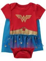 DC Comics Baby Girl Onesies Wonder Woman Bodysuit Tutu Dress and Detachable Cape