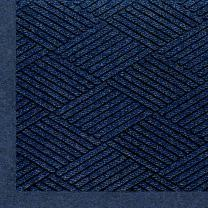 "M+A Matting 2297 Waterhog Eco Premier Fashion PET Polyester Fiber Indoor/Outdoor Floor Mat, SBR Rubber Backing, 5' Length x 3' Width, 3/8"" Thick, Indigo"