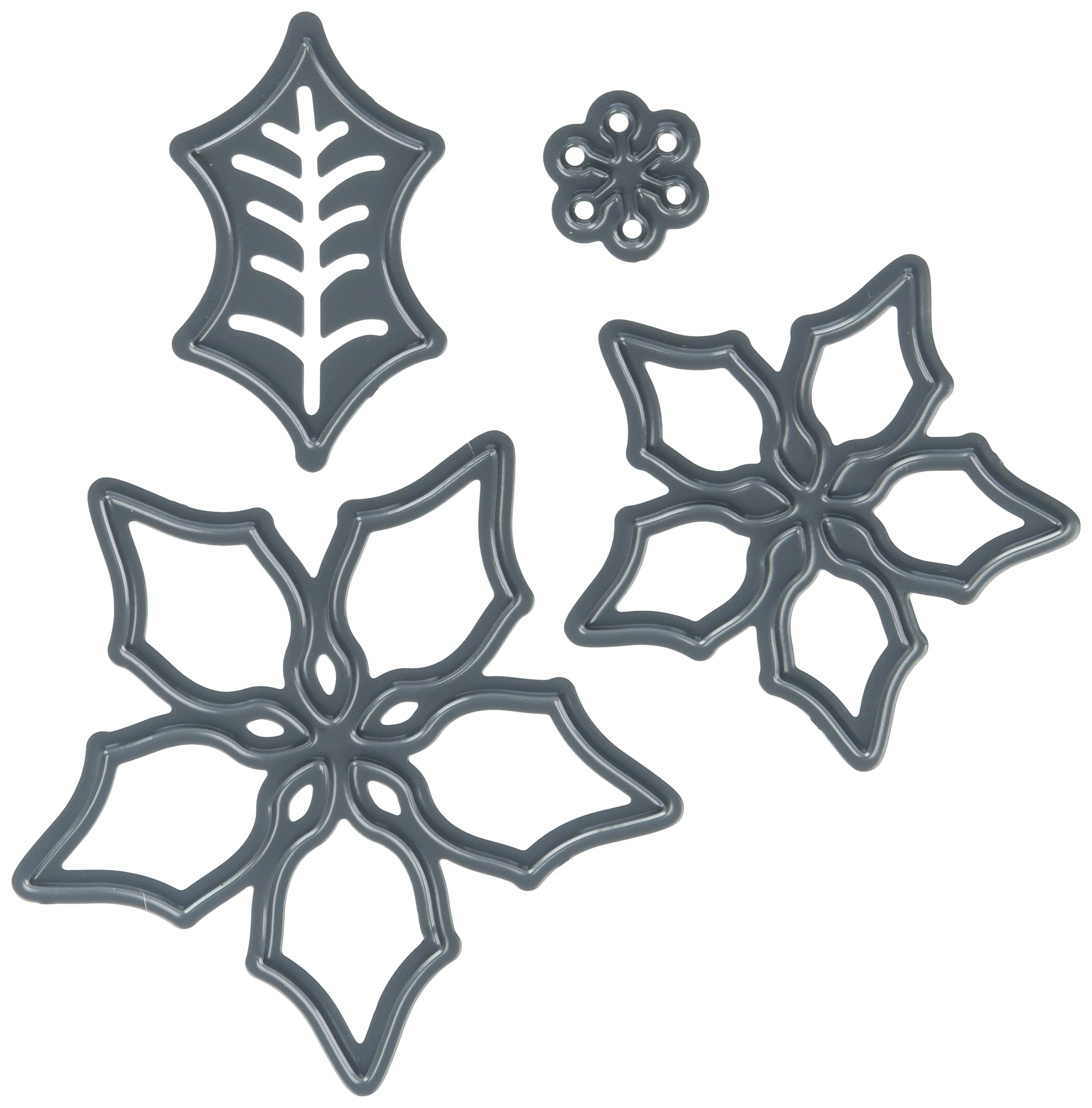 Darice 2014-38 Die Cut 3 Piece Poinsettia Set Paper Craft Supply